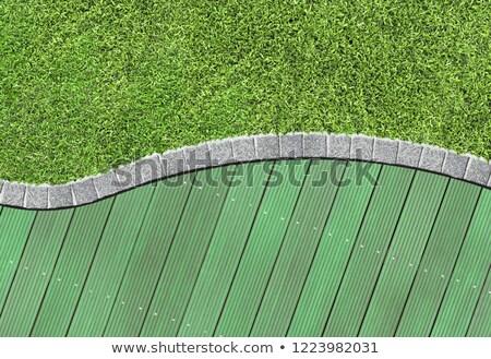 fal · fából · készült · deszkák · festett · zöld · textúra - stock fotó © ozgur