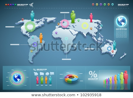 Infographic with world map and businessman Stock photo © bluering