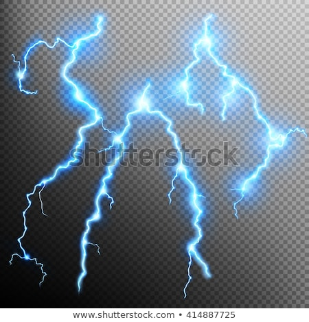 Lightning strike. Rain template with flash. EPS 10 Stock photo © beholdereye