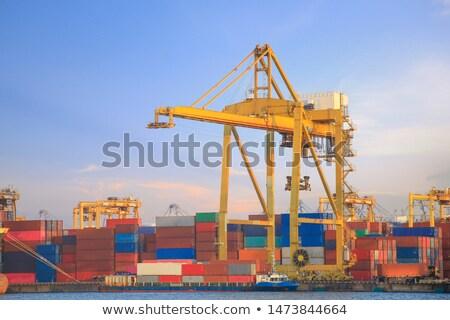 witte · vrachtwagen · magazijn · business · deur · industrie - stockfoto © tracer