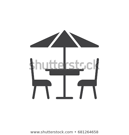 Stock photo: Cafe flat single icon.