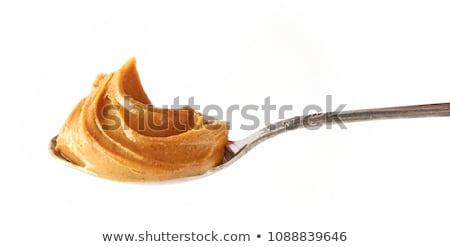 Redemoinho manteiga de amendoim terreno saudável ninguém nutrição Foto stock © Digifoodstock
