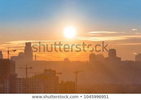 Ipari város Ukrajna déli híd erőmű Stock fotó © joyr
