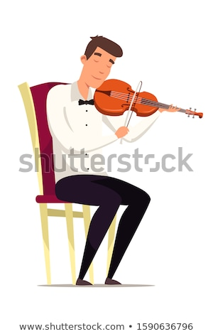 Member of classical music orchestra playing violin on a concert Stock photo © stevanovicigor