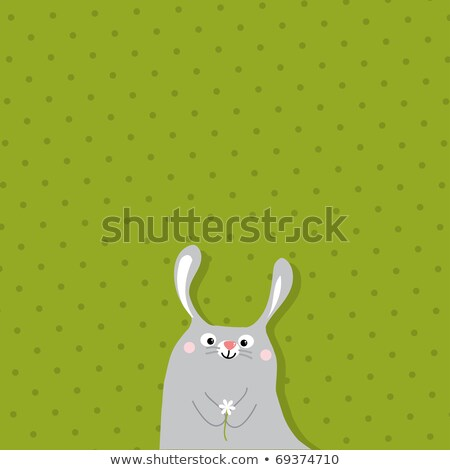 spring text with easter rabbit in front of pattern stock photo © wavebreak_media