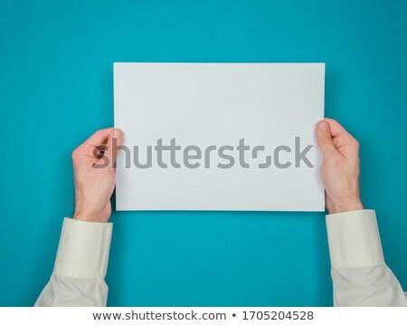 Masculina mano banner signo Foto stock © stevanovicigor