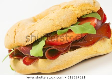 Pão rolar fumado carne fino fatias Foto stock © Digifoodstock