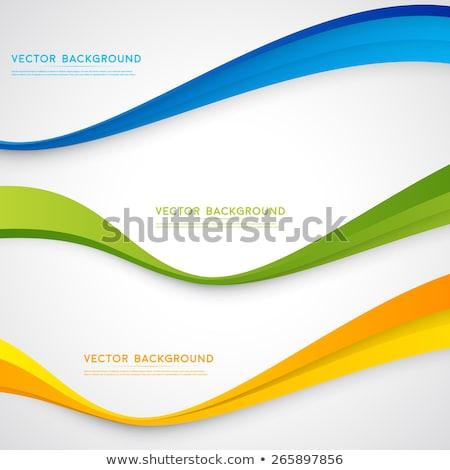 szett · hullámos · bannerek · fényes · átlátszó · zöld - stock fotó © fresh_5265954