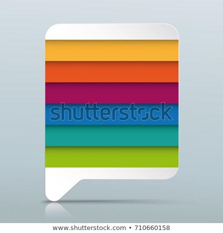 Colorato rettangolo fumetto grigio specchio opzioni Foto d'archivio © limbi007