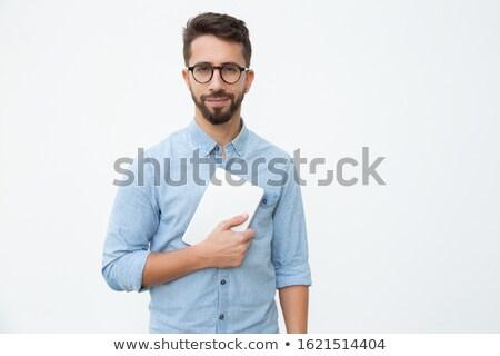 Man with digital tablet Stock photo © LightFieldStudios