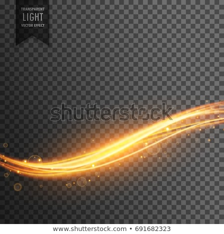 golden light streak transparent effect background Stock photo © SArts