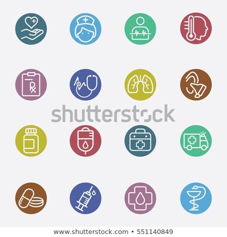 Stock fotó: Színes · kör · szett · többszörös · tűk · különböző