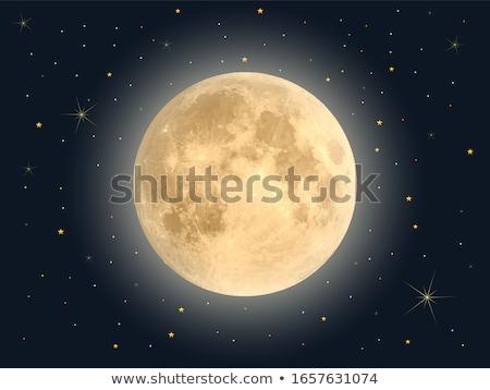満月 · 空 · 日没 · 曇った · 自然 · 光 - ストックフォト © fogen