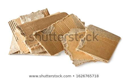 Torn Corrugated Cardboard Row Isolated Background stock photo © Qingwa