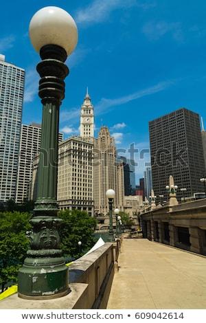 シカゴ · 1泊 · 表示 · 高層ビル · 銀行 · 川 - ストックフォト © benkrut