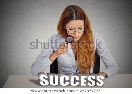nagyító · kiválóság · szó · fehér · szemüveg · osztály - stock fotó © tashatuvango