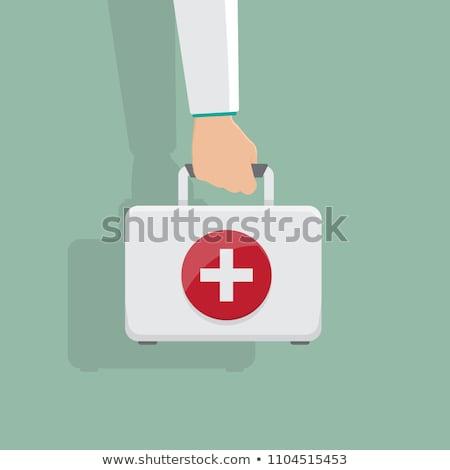 elsősegély · tok · ikon · vészhelyzet · orvosi · felszerelés · gyógyszertár - stock fotó © ahasoft