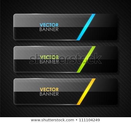 Establecer oscuro web banners rectangular espacio Foto stock © kup1984