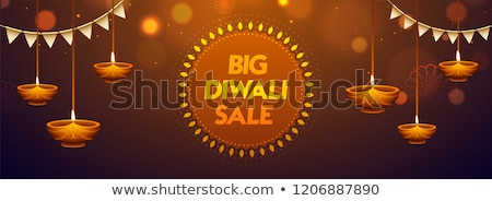 Stock photo: mega diwali sale banner design background