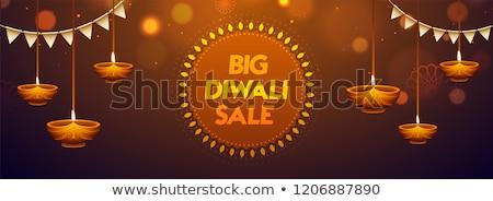 Diwali venta banner diseno resumen Foto stock © SArts