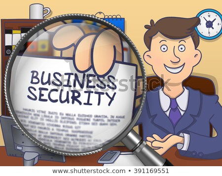 Trade Secret through Magnifier. Doodle Style. Stock photo © tashatuvango