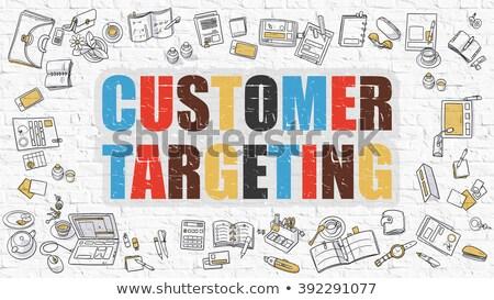 Customer Targeting in Multicolor. Doodle Design. Stock photo © tashatuvango