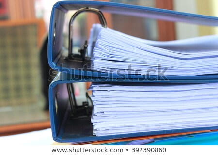 Cases on Binder. Blurred Image. Stock photo © tashatuvango