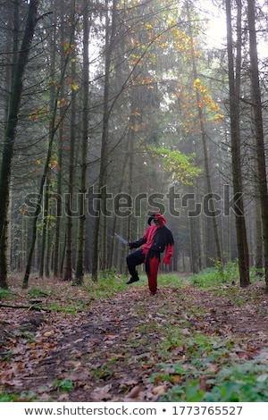 Effrayant mal clown couteau bois Photo stock © nito