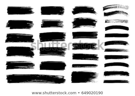 Stockfoto: Black Paint Brish Stroke Watercolor Background