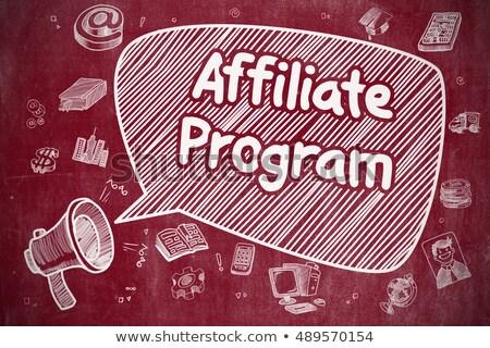 Affiliate Program Concept. Doodle Icons on Chalkboard. Stock photo © tashatuvango