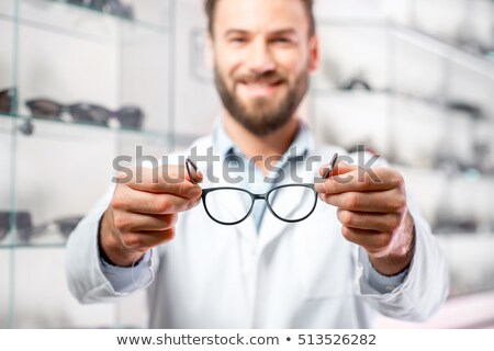 кавказский офтальмолог очки врач Постоянный Сток-фото © RAStudio