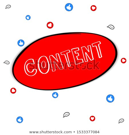 Tartalom marketing firka piros szöveg üzlet Stock fotó © tashatuvango