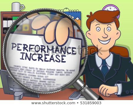 capacity increase through magnifier doodle concept stock photo © tashatuvango