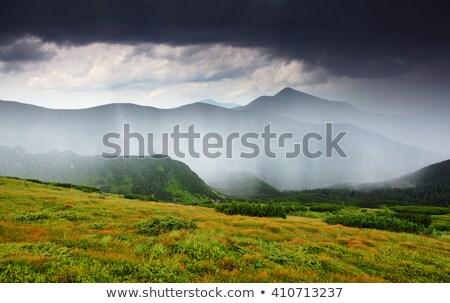 Majestueux vue montagnes emplacement lieu dramatique Photo stock © Leonidtit