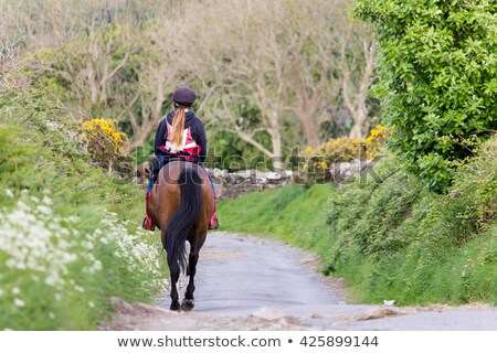 Two girls on country lane Stock photo © IS2