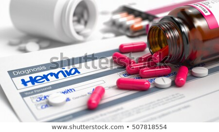 Hernia - Phrase in Differential Diagnoses. 3D. Stock photo © tashatuvango