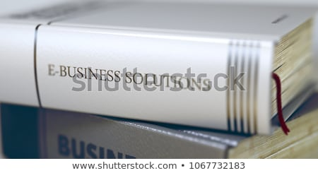 Könyv cím gerincoszlop ekereskedelem boglya közelkép Stock fotó © tashatuvango