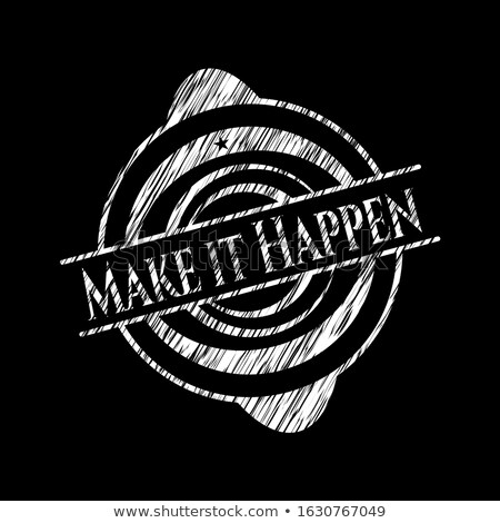make it happen concept doodle icons on chalkboard stock photo © tashatuvango