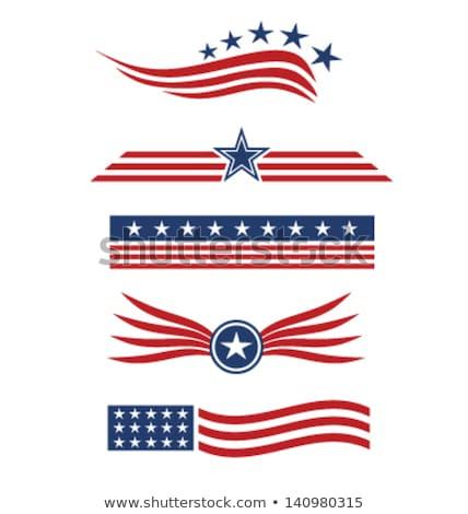 American Flag Ribbon Design Stock photo © Krisdog
