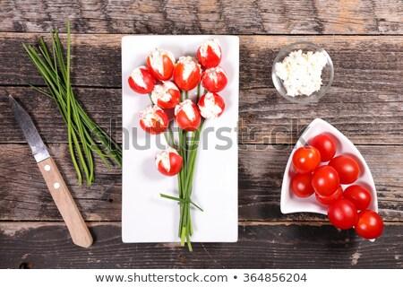 Páscoa aperitivo flor comida fundo tulipa Foto stock © M-studio
