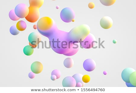 Render of abstract sphere. 3D illustration Stock photo © user_11870380
