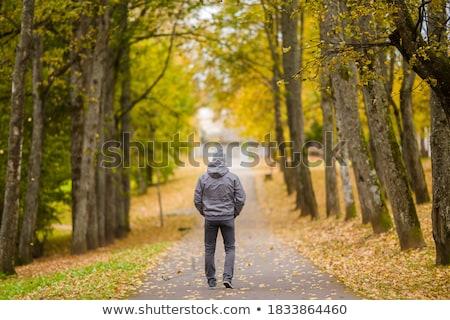 человека осень город атмосфера моде улыбаясь Сток-фото © IS2