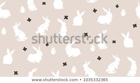 Joyeuses pâques modernes Pâques printemps heureux Photo stock © gladiolus