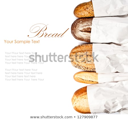 French Bread and fresh yeast on wood Stock photo © FreeProd