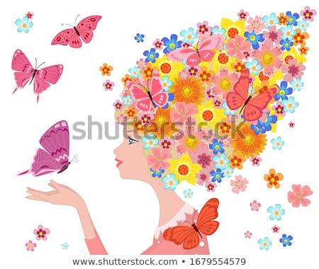 Girl holding a butterfly Stock photo © IS2