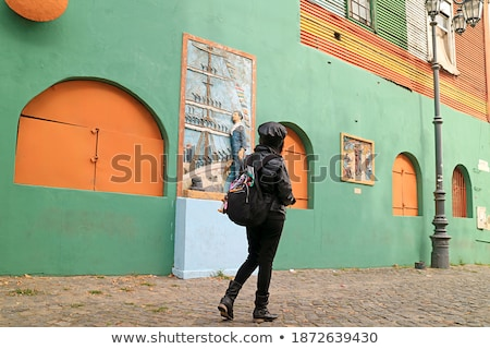 One of the colorful facades of La Boca Stock photo © elxeneize