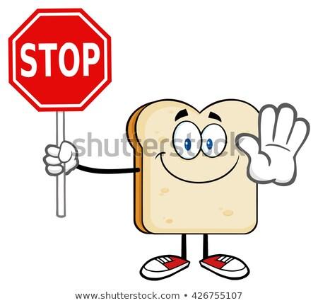 Bianco pane mascotte carattere Foto d'archivio © hittoon
