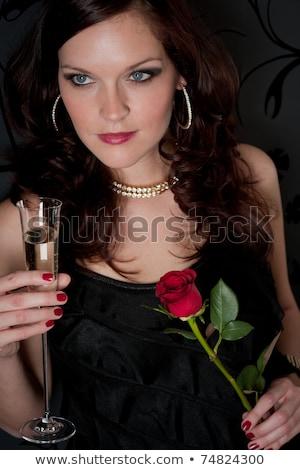 коктейль · женщину · вечернее · платье · закрывается · дизайнера · одежды - Сток-фото © candyboxphoto