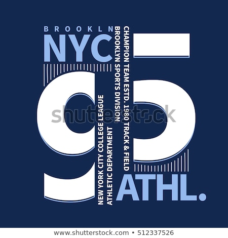Brooklyn Sport wear typography emblem, t-shirt stamp graphics Stock photo © Andrei_