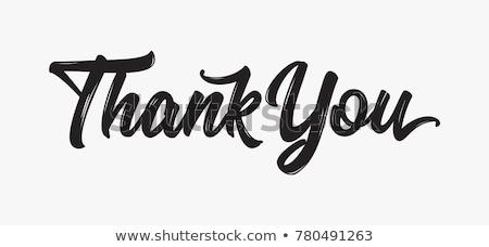 Merci main remerciements tableau calligraphie signe Photo stock © FoxysGraphic